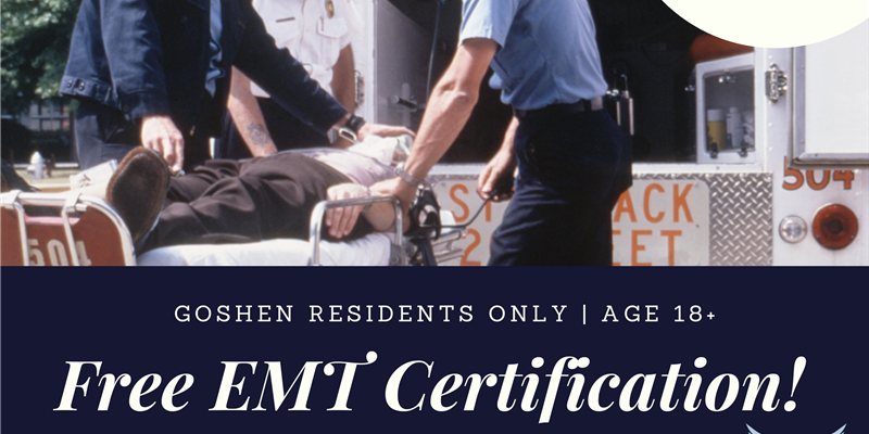 FREE EMT class! Become a member. Help your community.